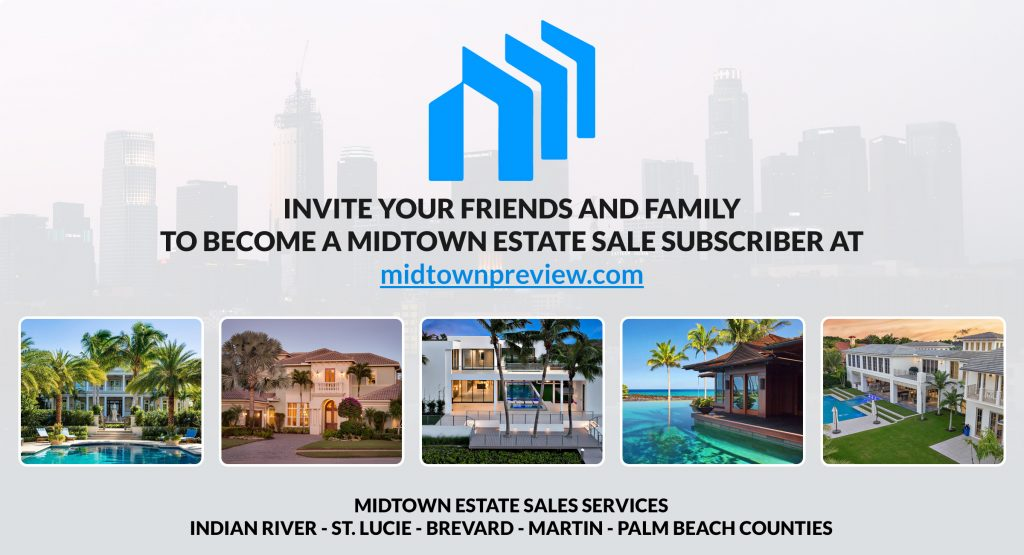 This Midtown Estate Sales image lets our clients and guests know the current (5) areas we service including Indian River, St. Lucie, Brevard, Martin, and Palm Beach Counties